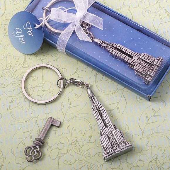 FashionCraft Empire State Building Skyscraper Silver-Finish Keychain