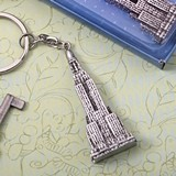 FashionCraft Empire State Building Skyscraper Silver-Finish Keychain