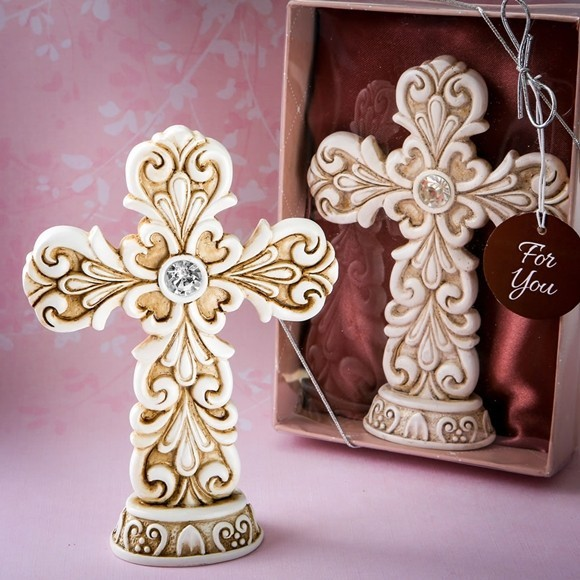 Exquisite Baroque Design Cross Statue by FashionCraft