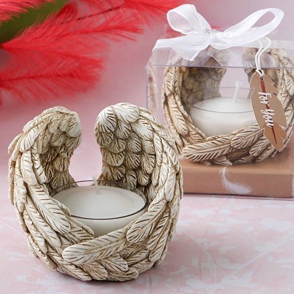 FashionCraft Guardian Angel Wings Tealight Candle Holder