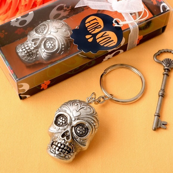 FashionCraft Day of the Dead Collection Sugar Skull Bottle Key Chain