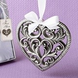 FashionCraft Love-Themed Heart-Shaped Ornament with Ribbon