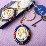 FashionCraft Madonna and Child Keychain  with Rich Royal Blue Border