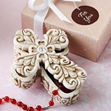 FashionCraft Baroque Design Vintage Cross-Themed 2-Piece Trinket Box