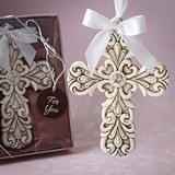 FashionCraft Baroque Design Vintage Cross-Themed Ornament