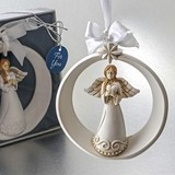 FashionCraft Guardian Angel Holding a Heart Ornament with Ornate Star