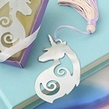 Majestic Silver-Metal Unicorn Bookmark with Tassel by FashionCraft
