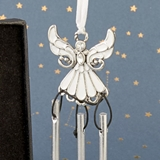 FashionCraft White Epoxy on Metal Guradian Angel Wind Chime