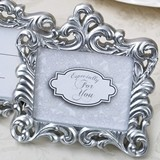 FashionCraft Baroque Style Pearl-Silver-Finish 2x3 Frame