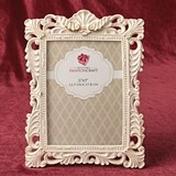 FashionCraft Antique Ivory-Colored with Brushed Gold Leaf 5x7 Frame
