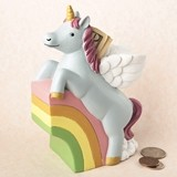 Gifts by FashionCraft Adorable Unicorn Sitting atop a Rainbow Bank