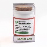 Small Ceramic 'Prescription: Marijuana' Label Stash Jar with Cork Top
