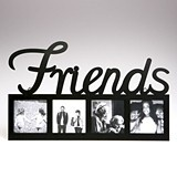 FashionCraft FRIENDS Themed Large Letters Black Metal Frame