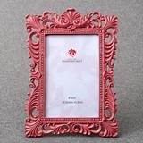 FashionCraft Ornate Open-Work Border 4x6 Frame in Mauve Color