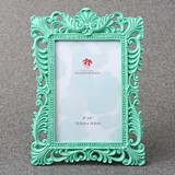 FashionCraft Ornate Open-Work Border 4x6 Frame in Mint Color