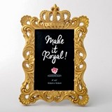 FashionCraft Magnificent 'Make it Royal' Golden Crown 4x6 Frame