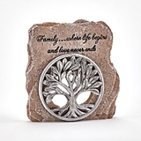 Set into a Rock 'Family Tree of Life' Figurine by FashionCraft