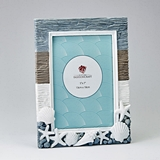 Fachioncraft Beach-Themed Vertical 5x7 5 by 7Frame with 3d Seashells
