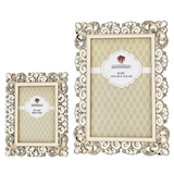 FashionCraft Deluxe Metal Frames with Ornate Borders/Inlays (Set of 2)