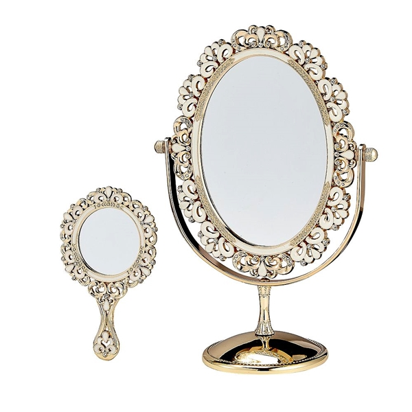 FashionCraft Deluxe Mirror Set with Tilting Oval Mirror & Hand Mirror