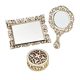 FashionCraft Exquisite Vanity Set w/ Trinket Box, Hand Mirror and Tray