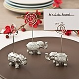Good Luck Silver Indian Elephant-Shaped Placecard/Picture Holder