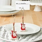 FashionCraft Classic Red Electric Guitar Design Place Card Holder