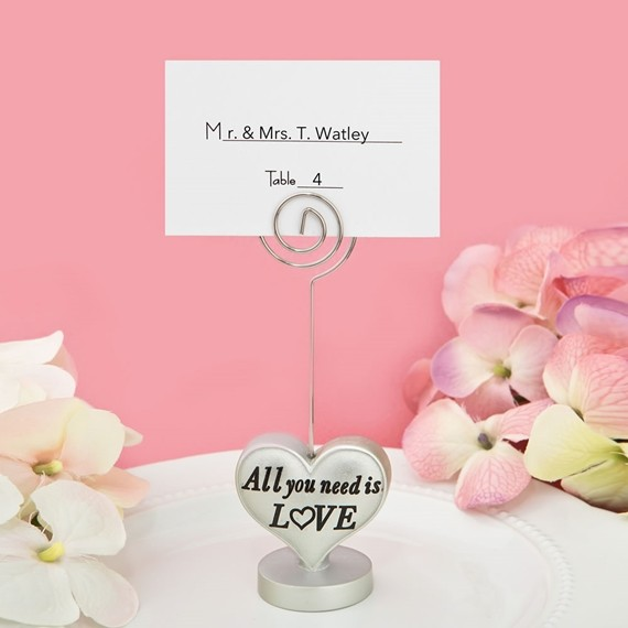 FashionCraft All You Need is LOVE Heart-Shaped Placecard Holder
