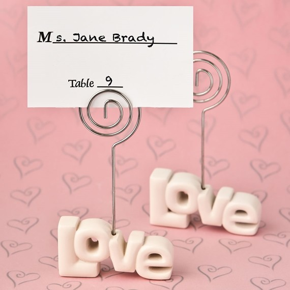 FashionCraft Spell Out Your Love Theme Placecard Holder