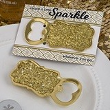 FashionCraft Golden Elegance Collection Gold Glitter Bottle Opener