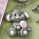FashionCraft Cute Baby Elephant with Pink Design Tea Key Chain
