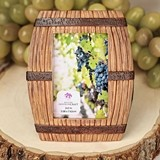 FashionCraft Wine Barrel-Themed Picture Frame/Place Card Holder