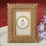 Brushed Gold-Leaf Triple-Layer-Border Photo Frame/Place Card Holder