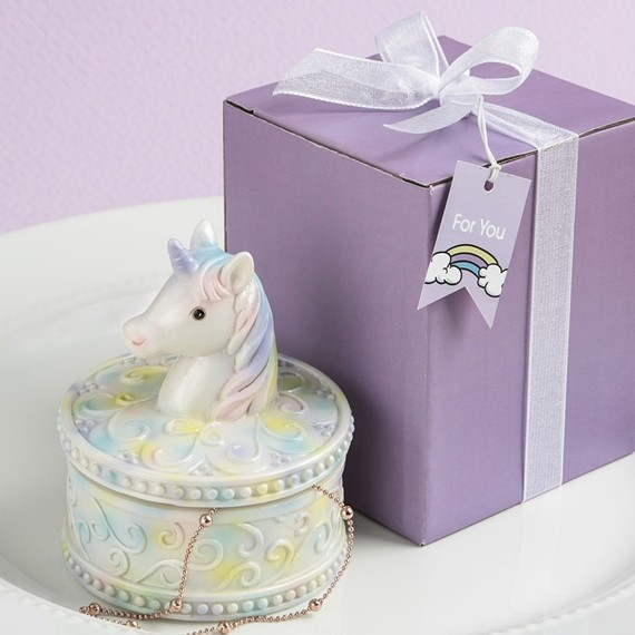 FashionCraft Delightful Unicorn Design Jewelry/Trinket Box