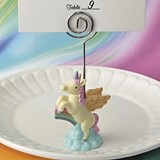 FashionCraft Magical Unicorn Riding a Rainbow Place Card Holder