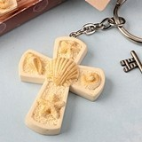 FashionCraft Beach-Themed Cross Charm Key Chain