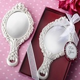 FashionCraft Royal Princess-Themed Hand Mirror with Ornate Detail