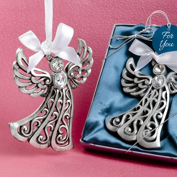 Silver Tone Guardian Angel Ornament From Fashioncraft Personalized