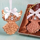 Rose Gold Finish Guardian Angel Ornament from FashionCraft