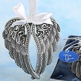 Silver Angel Wings Design Ornament with Pewter Finish by FashionCraft