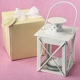 FashionCraft 'Love Lights the Way' Luminous Metal Lantern in Ivory