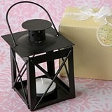 FashionCraft 'Love Lights the Way' Matte-Black-Finish Metal Lantern