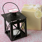 Personalized Expressions Matte-Black-Finish Luminous Metal Lantern