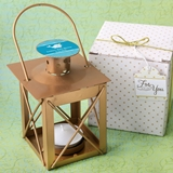 Personalized Expressions Matte-Gold-Finish Luminous Metal Lantern