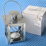 FashionCraft Classic Silver Lantern Tealight Candle Holder