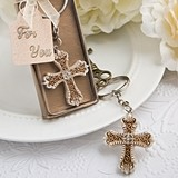 FashionCraft Vintage Design Cross-Themed Key Chain