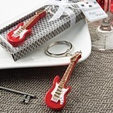 FashionCraft Classic Red Electric Guitar Design Keychain