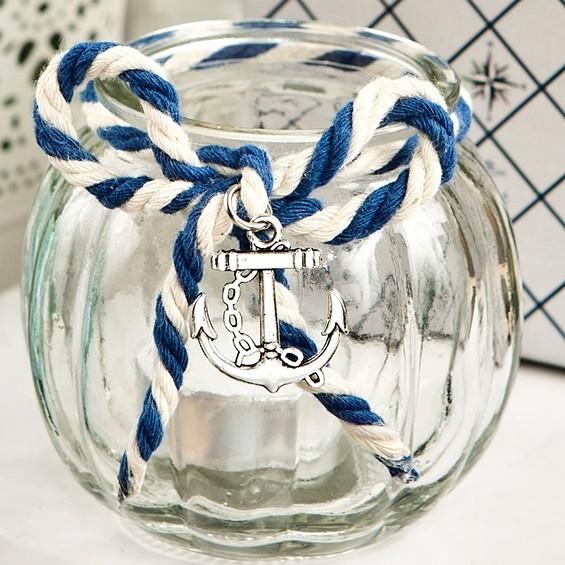 Fashioncraft Nautical Themed Glass Globe Candle Holder W