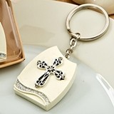 FashionCraft Beautiful Cross-Themed Plaque Key Chain