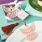 FashionCraft Rose Gold-Colored Guardian Angel Bookmark